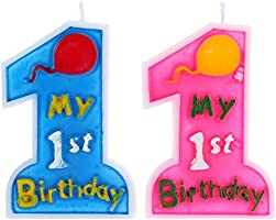 Anself - Mi Primer Cumpleaños - Vela para 1º Cumpleaños ...