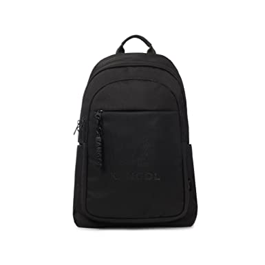 KANGOL Switch Backpack 1309 Laptop Backpack Unisex for School Work Travel  Camping (Black) 1a33880fc6f45