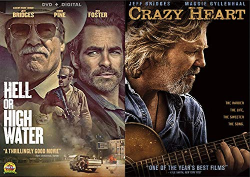 From Bad Blake To A Bad To The Bone Texas Ranger- A Jeff Bridges Double Feature: Hell Or High Water & Crazy Heart Bundle 2-DVD Set ()