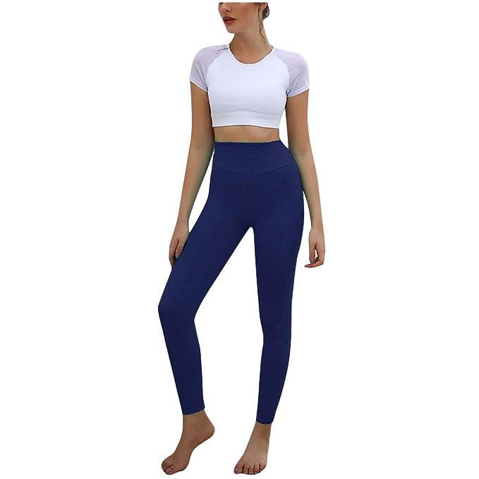 Lunule Pantalones de Yoga de Cintura Alta para Mujer Slim ...