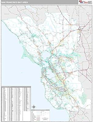 Amazon.com : Bay Area, CA City Wall Map (Premium Style ...