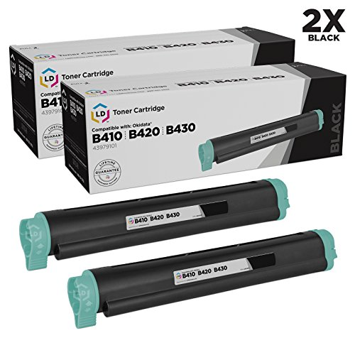 - LD Compatible Toner Cartridge Replacement for Okidata 43979101 (Black, 2-Pack)