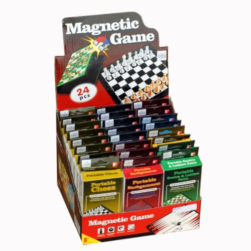 WE Games Magnetic Mini Game Pack - 6 different magnetic travel games - pack of 24 by Wood Expressions