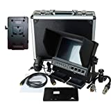 Delvcam 7 Inch Camera-Top Monitor w/ Video Waveform and V-Mount Battery Plate (DELV-WFORM-7-VM)