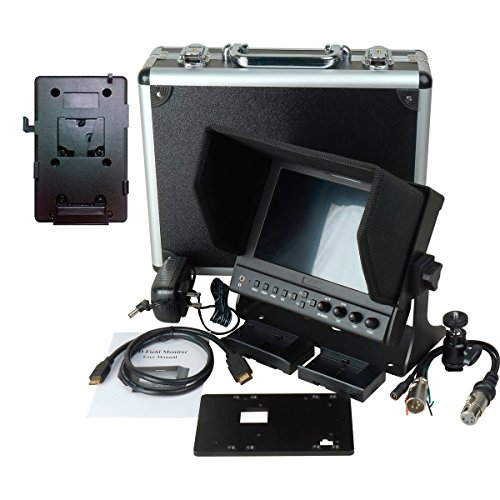 Delvcam 7 Inch Camera-Top Monitor w/ Video Waveform and V-Mount Battery Plate (DELV-WFORM-7-VM) by Delvcam