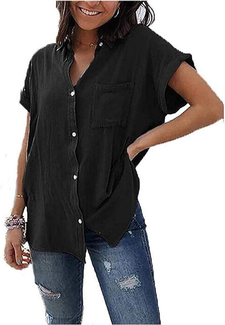 Yutila Blusa Donna con Maniche Lunghe Casual Tinta Unita Chiffon Camicetta Elegante Shirt Primavera E Autunno