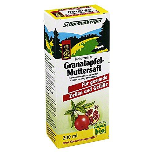GRANATAPFEL MUTTERSAFT Schoenenberger 200 ml Saft