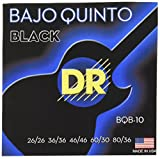 DR Strings BQB Bajo Quinto, Black