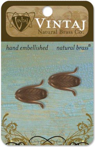 (Vintaj Metal Bead Caps 2/Pkg-Magnolia Leaf 18x14mm)