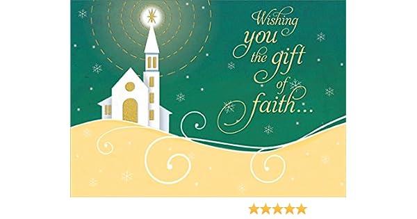Christmas Card Design.Shining Star Gift Of Faith Designer Greetings Box Of 18 Religious Christmas Cards