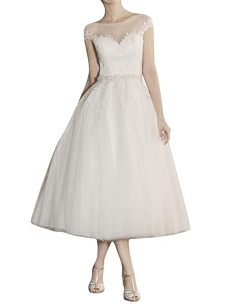Amazon.com: Vestido de novia para novia, vestido de novia ...