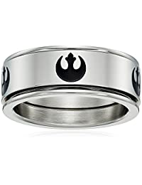 Star Wars Jewelry Rebel Symbol Stainless Steel Men's Spinner Ring