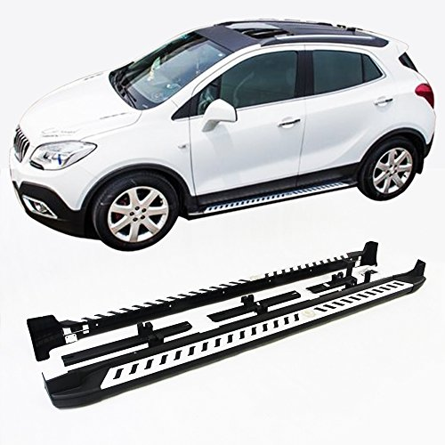 KPGDG Fit for Buick Encore OPEL Mokka 2012-2018 Aluminium Running Board Side Step Nerf Bar