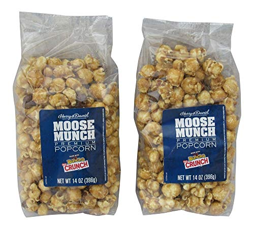 Harry & David Moose Munch Premium Popcorn - Nestles Buncha Crunch Flavor - Two 14 Ounce Bags (28 Ounces Total)