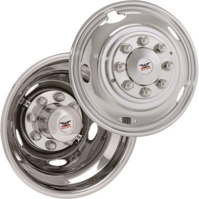 Phoenix USA Stainless Steel Wheel Liners - 2003-Current Dodge 3500 Trucks, 17In. Wheels, Model# SLD1703