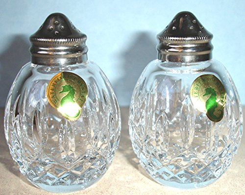 Waterford Lismore Giftology Crystal Round Salt & Pepper Shakers New In Box