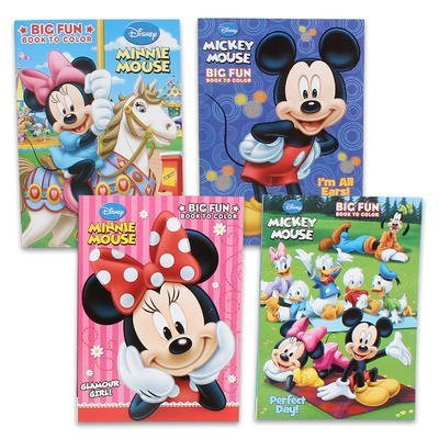 Disney's Mickey Mouse & Minnie Mouse Plus Friends Activity And Coloring Book (Set Of 4) by Bendon Publishing -