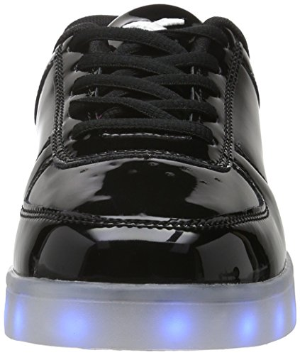 amp; wize Adulto Basse ope Nero 2 Black Sneaker Pop LED Unisex dqnCZqPwx