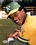 Rickey Henderson Autographed Signature Mint 8x10 Photo PSA/DNA Authentic Hall of Fame Autographed Signature Oakland A's