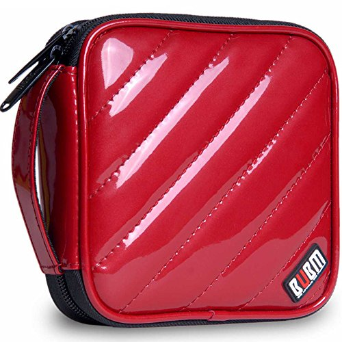 32 Capacity Pu Leather Cover CD / DVD Wallet, Various Colors - Red (Dvd Holder Ideas)