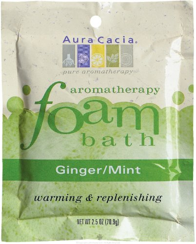 AURA CACIA FOAM BATH,GINGER & MINT, 2.5 OZ