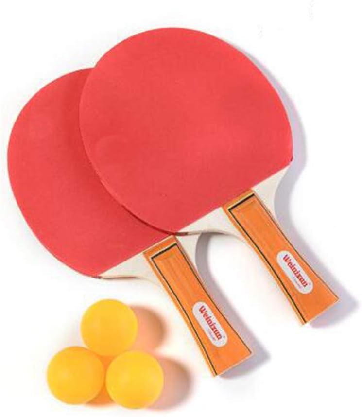LUKU Raqueta de Tenis de Mesa, Profesional de Ping-Pong de la Raqueta Conjunto de paletas con 2 murciélagos y 3 Bolas en Bolsa de Transporte de paletas para Interiores o Exteriores de Inicio Juego