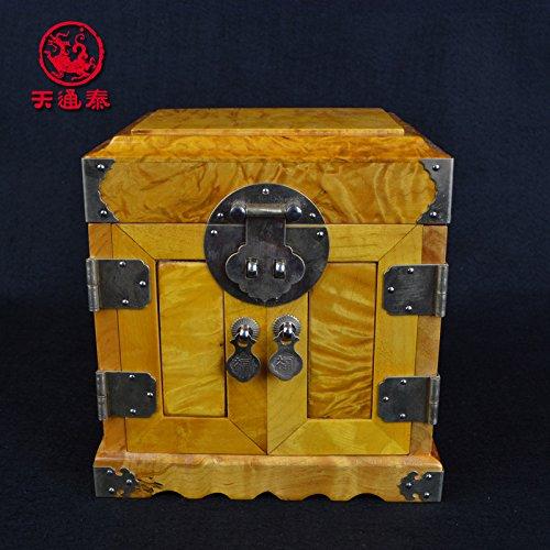 (Deluxe Wooden Jewelry Organizer Box Storage Cabinet Chest Armoire Case)