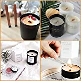 """NOVSIX 60 Piece 5"""" Wood Candle Wicks For Candle Making and Candle DIY"""