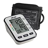 Drive Medical Automatic Deluxe Blood Pressure Monitor, White, Upper Arm
