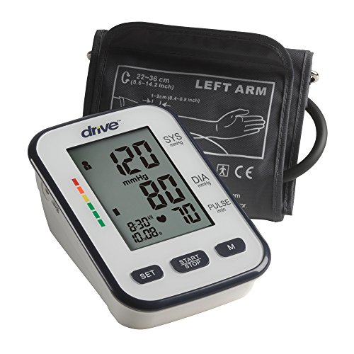 Drive Medical Automatic Deluxe Blood Pressure Monitor, White, Upper Arm (Deluxe Automatic Blood Pressure Monitor)