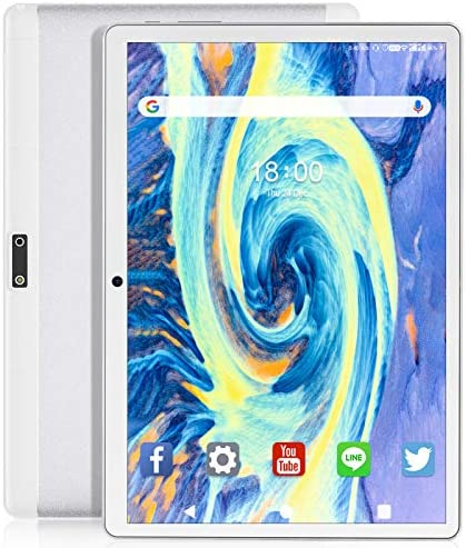 Feonal Tablet 10 inch Android 9.0 Tablet with 32GB Storage Quad-Core Processor, Dual Sim Card, WiFi, Bluetooth, GPS, 128GB Expand Support, IPS Full HD Display (Silver)