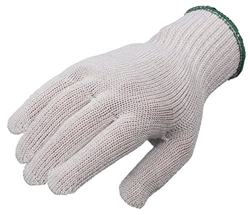 Lakeland 96-1745 Enhand-CR Fiber, Cut Level 5 Antimicrobial Glove, Premium Food Service Glove, excellent for Fish, Poultry, Chicken, Beef, or any meat, Medium, Natural (Single Glove)