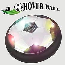 toyk Kids Toys la bola de Amazing Hover con potente luz LED Tamaño 4niños niñas deporte los niños juguetes fútbol de Capacitación para uso en interiores o exteriores. Con los padres Juego, Negro