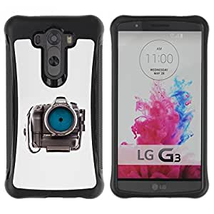 Fuerte Suave TPU GEL Caso Carcasa de Protección Funda para LG G3 / Business Style Photographer Eye Focus Gray