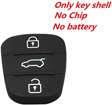 1pc 3 Button Remote Key Rubber Pad Shell For Hyundai I10 I20 I30 Flip Key Case