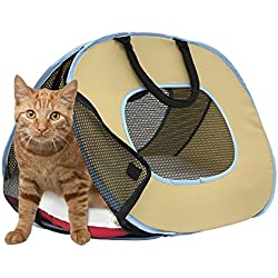Portable Ultra Light Cat Carrier with Zipper Lock