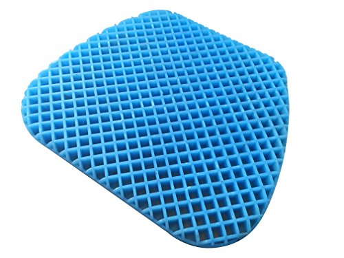 (FOMI Premium All Gel Orthopedic Seat Cushion Pad for Car, Office Chair, Wheelchair, or Home. Pressure Sore Relief. Ultimate Gel Comfort, Prevents Sweaty Bottom, Durable,)