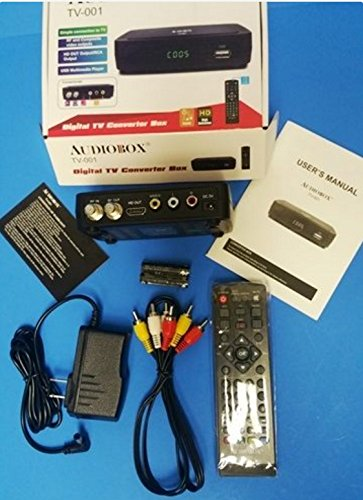 Audiobox Digital TV Converter Box Model: TV-001 HDMI RCA USB connections: Amazon.com: Industrial & Scientific