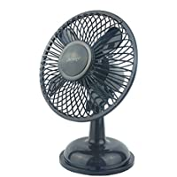 The Flying Wheels OCHO Retro Style (Metal Design, Automatic direction change) USB personal fan (Black)