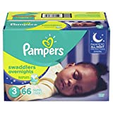 Diapers Size 3, 66 Count - Pampers Swaddlers Overnights Disposable Baby Diapers, SUPER