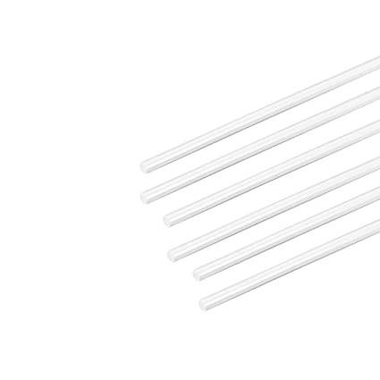 sourcing map 1mm /× 20 ABS Plastique Barre ronde Rod Architecte Mod/èle Faire DIY 4Pcs