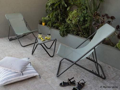 Magnolia Pink Canvas, Set of 2 Lafuma Maxi Transat Folding Sling Chair Foldable Adirondack w// Titane Steel Frame