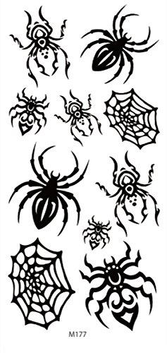 Halloween men women black spider web temporary tattoo buy cheap wholesale