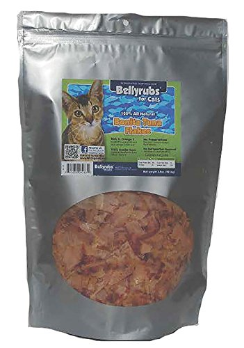 Bellyrubs Organic 3-1/2-Ounce All Natural Cat Treats, Bonita Tuna Flakes