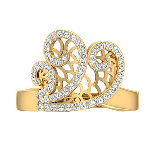 Or jaune 18K 0,37carat au total Round-cut-diamond (IJ | SI) en diamant