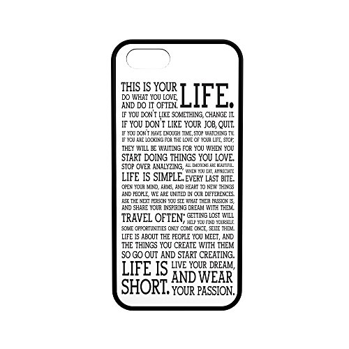 Life Inspiration Protective Rubber Phone Case Quotes (iPhone 5/5s/se) (Quote Case For Iphone 5s)