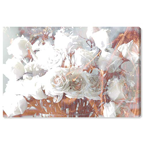 The Oliver Gal Artist Co. Floral and Botanical Wall Art Canvas Prints Rose Gold Feast Home D cor, 24 x 16 , White