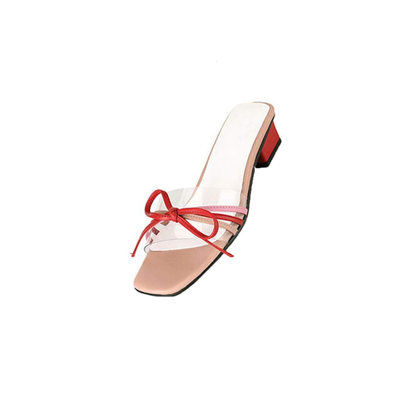 homme / femme, noeud glisse papillon à talon glisse noeud pvc transparent chunky faible nombre de styles de chaussures mignon designer sandales rétroaction nv4394 privilégiée accusé 355689