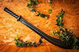 BladesUSA 1606PP Martial Arts Training Broad Sword, Polypropylene, Black, 34-1/2-Inch Length