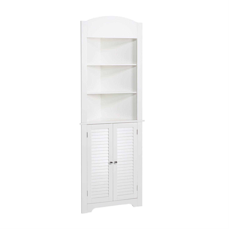 RiverRidge Ellsworth Collection Tall Corner Cabinet, White by RiverRidge Home